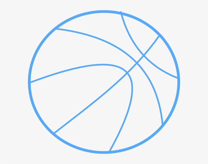 Blue Basketball Outline Clip Art At Clker - Blue Basketball Clip Art, transparent png #1759941