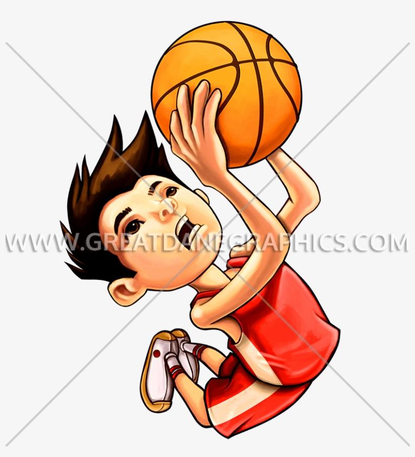 Kid Basketball Dunk Crtoon Boy Playing Basketball Free