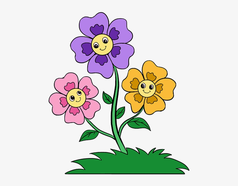 Cartoon Flowers Png Wishing You A Good Week Free Transparent Png Download Pngkey