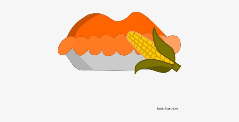 Thanksgiving Pumpkin Pie And Corn Clip Art - Pumpkin Pie, transparent png #1761231