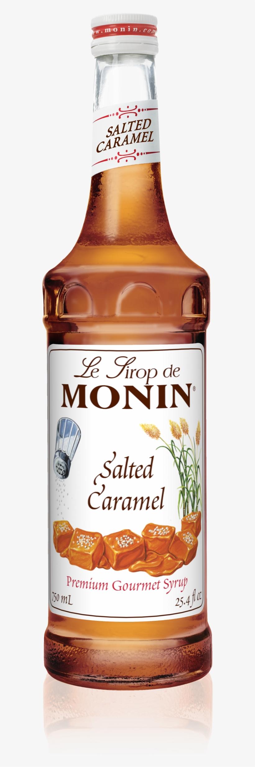 750 Ml Salted Caramel Syrup - Monin 750 Ml Premium Salted Caramel Flavoring Syrup, transparent png #1761302