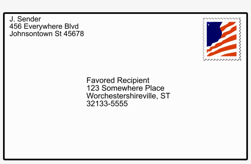 With Stamp Big Image Png - Addressed Envelope, transparent png #1762157