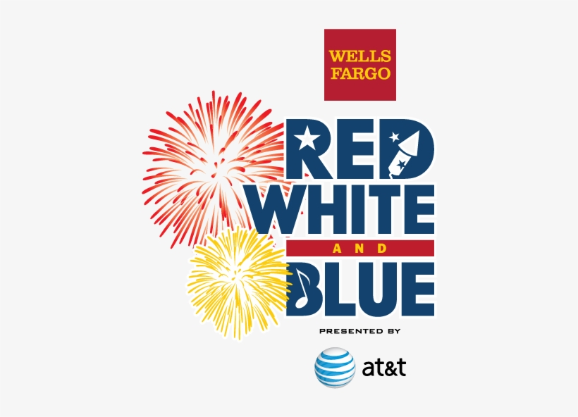 Wells Fargo Red, White And Blue Presented By At&t Is - Red White And Blue Celebration, transparent png #1762744
