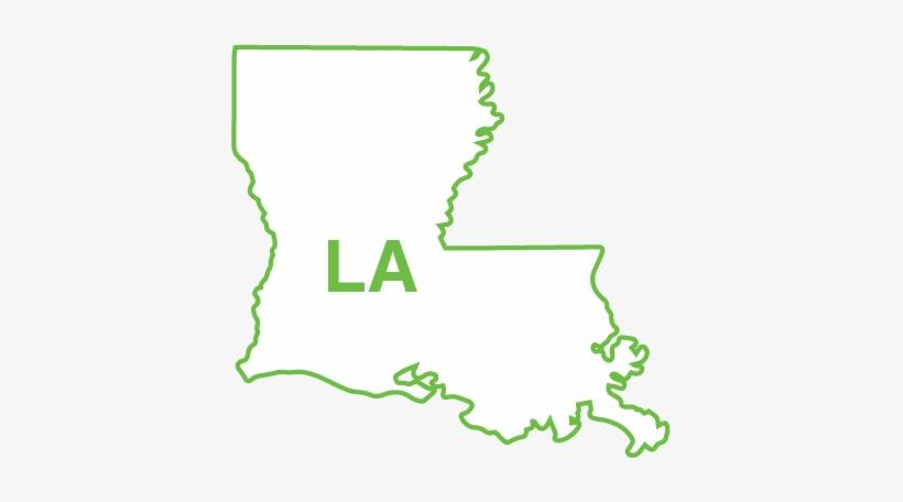 Louisiana State Map Outline Map Of Louisiana Free Transparent