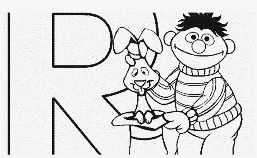 Good Sesame Street Sign Coloring Page Adult 1st Birthday - Sesame Street Abc Colouring Pages Letter R, transparent png #1762954