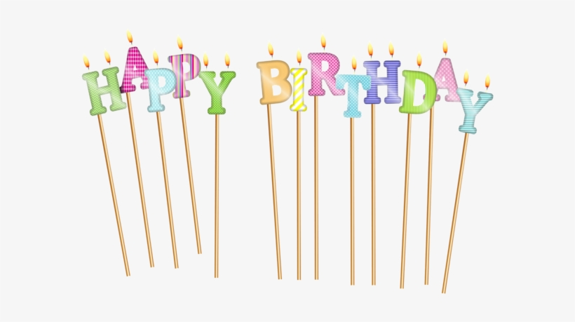 Happy Birthday Deco Candles Png Clip Art