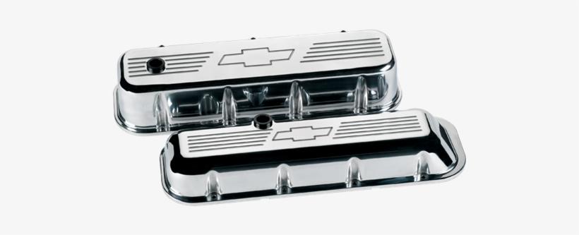 Big Block Chevrolet Bowtie Valve Covers - Billet Specialties 96021 Big Block Valve Covers - Short, transparent png #1763519