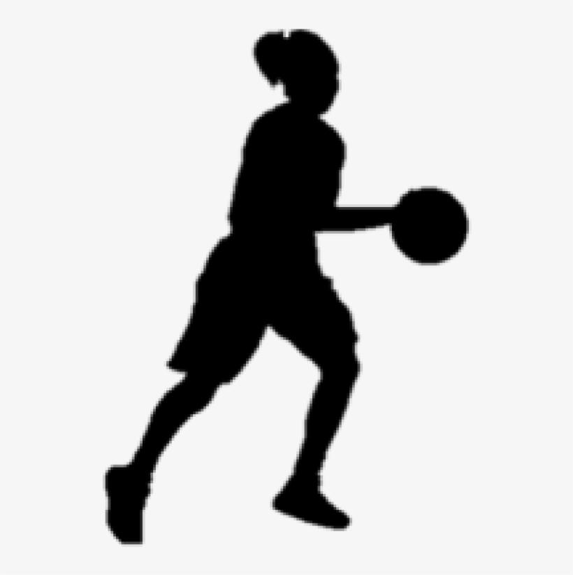 Basketball Girl Silhouette Clipart Silhouette Girl