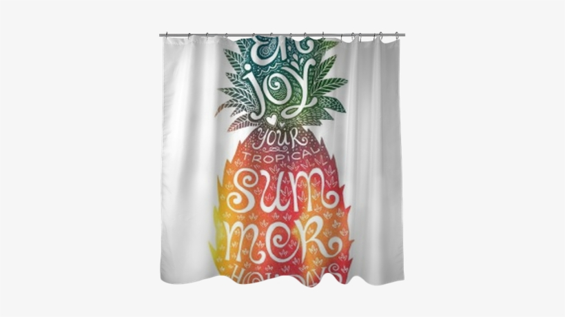 Bright Colors Hand Drawn Watercolor Pineapple Silhouette - Watercolor Painting, transparent png #1764914