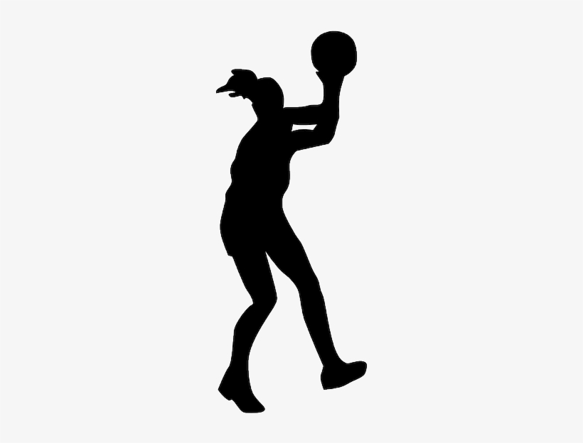 Girls Basketball Silhouette At Getdrawings Transparent Background Sports Clipart Free Transparent Png Download Pngkey