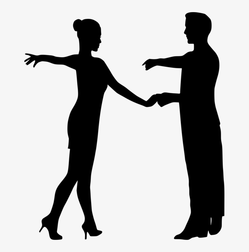 Partner Dance Latin Dance Silhouette Computer Icons - Couple Dance Silhouette Png, transparent png #1766742