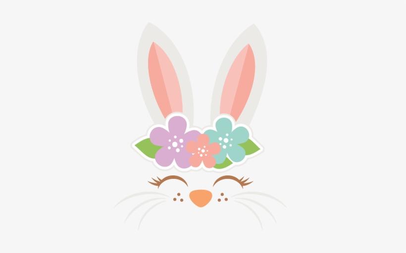 Easter Bunny Face Svg Cut Files Svg Scrapbook Cut File - Scalable Vector Graphics, transparent png #1768359