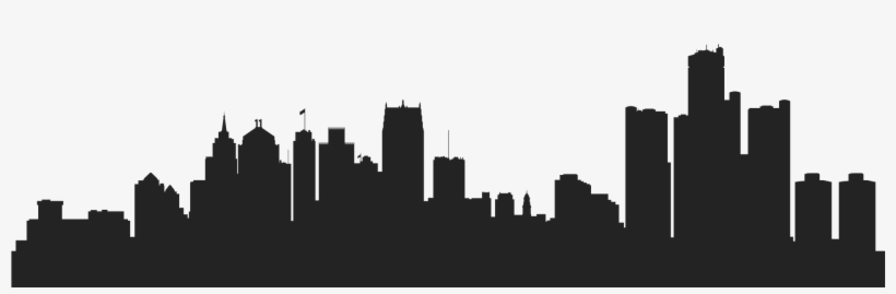 Book Your Ticket Now - Detroit City Skyline Silhouette, transparent png #1768697