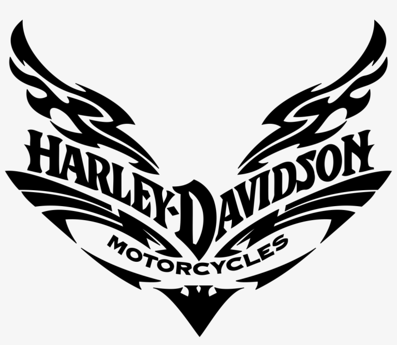 Harley Motorcycle Silhouette*vector* - Silhouette Harley Davidson Svg, transparent png #1769116