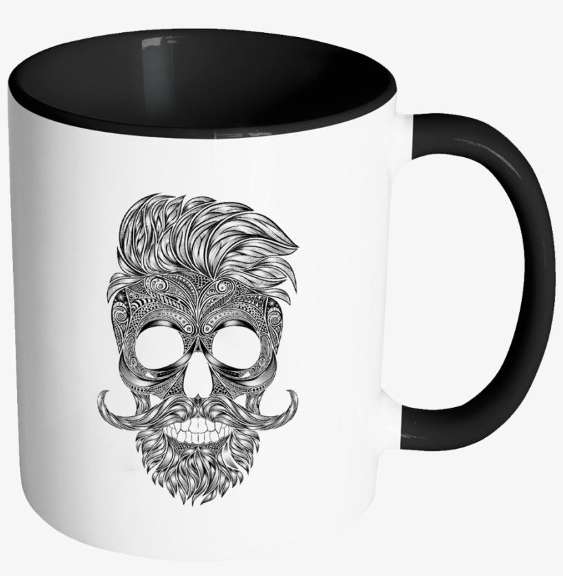 Silhouette Skull Accent Mug - Like My Men Like I Like My, transparent png #1769367
