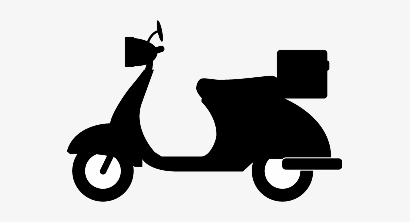 Compact Motorcycle Clipart Png Silhouette Scooter Free