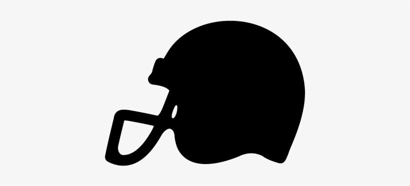 American Football Helmet Side View Black Silhouette - Black Football Helmet Logo, transparent png #1769938