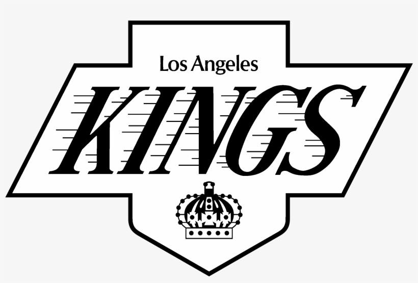Los Angeles Kings Logo Black And White - Logo Los Angeles Kings, transparent png #1772174