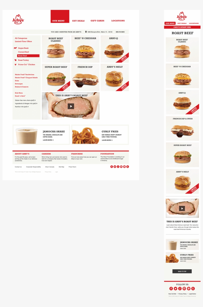 The Arby's Menu Is Sorted By Meat - Fast Food, transparent png #1773532