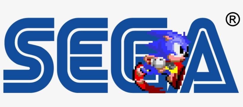 Sonic The Hedgehog Running Through Sega S Company Logo Sega Logo Sonic Png Free Transparent Png Download Pngkey