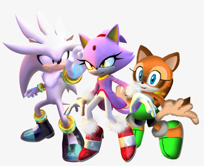 Sonic Team Wikipedia Sonic The Hedgehog Team Silver Free Transparent Png Download Pngkey