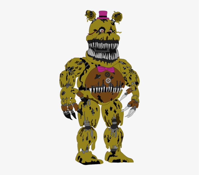 Picture Royalty Free Library Nightmare Five Nights - Fnaf 4 Fredbear Drawing, transparent png #1786837