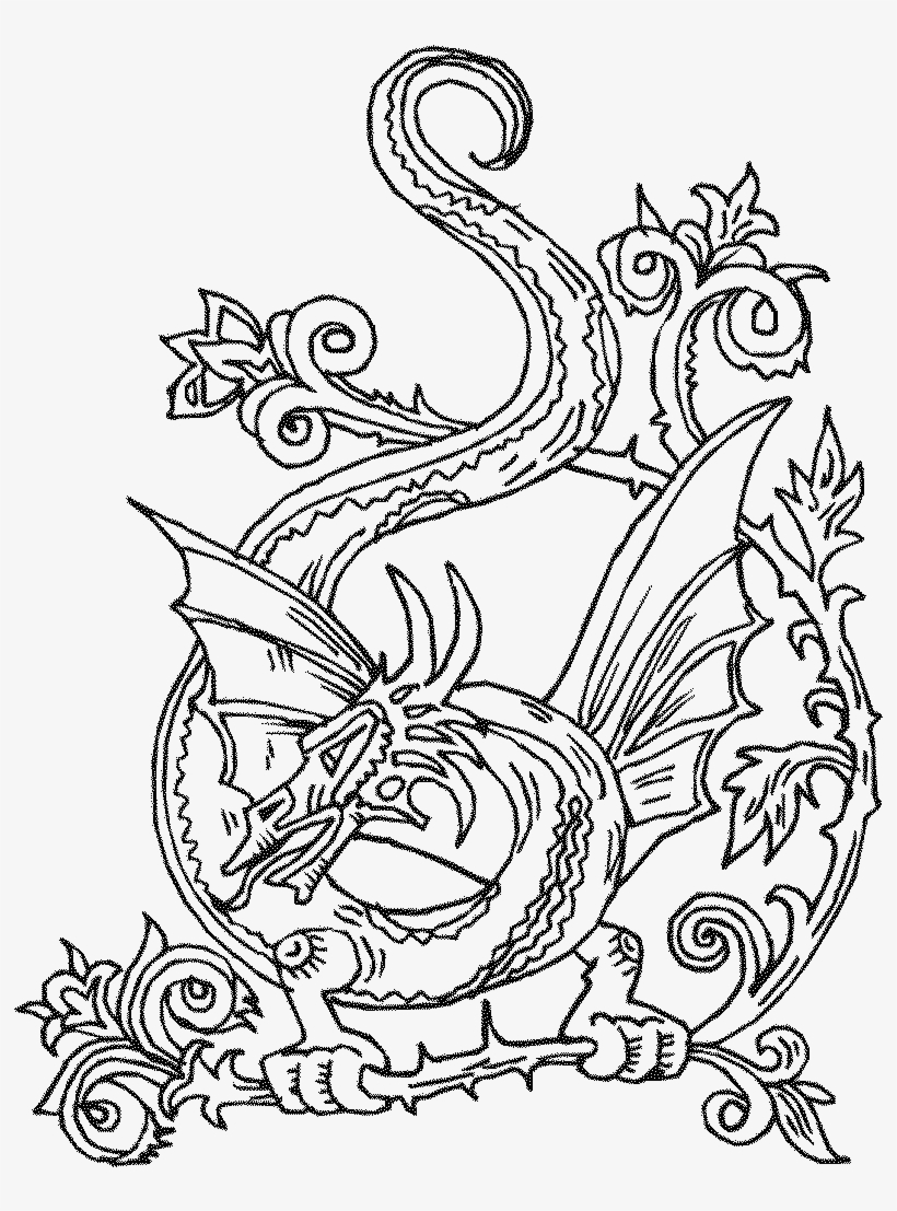 image relating to Dragon Printable Coloring Pages referred to as Dragon Printable Coloring Web pages - Printable Celtic Knots