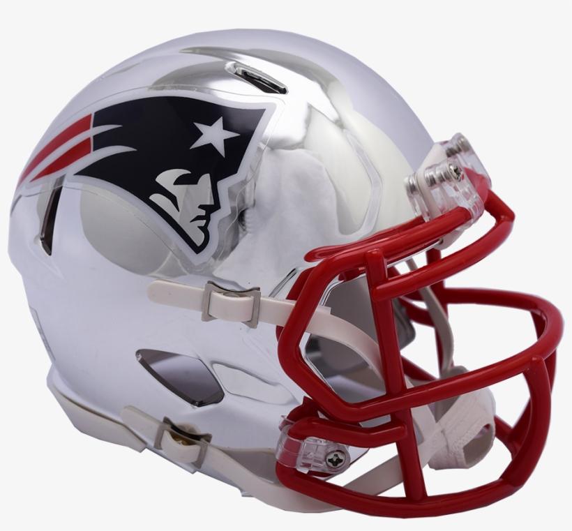 Nfl New England Patriots Riddell Chrome Mini Speed - New England Patriots Chrome Helmet, transparent png #1789242