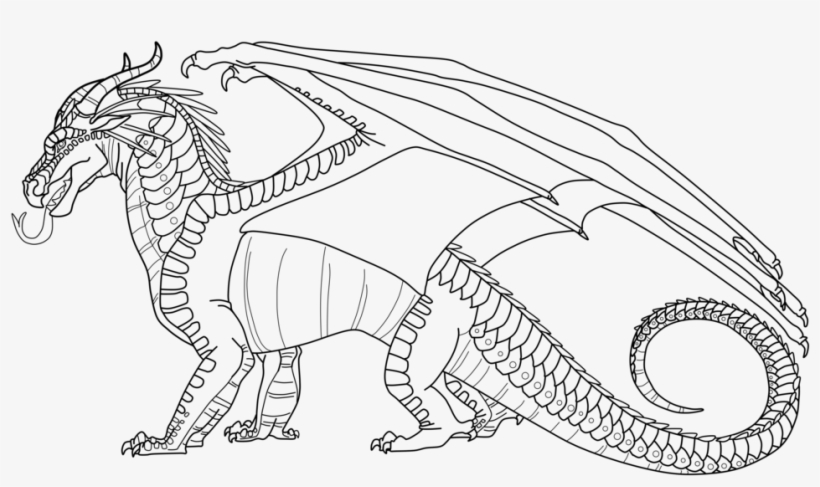 Wings Of Fire Coloring Pages Printable Dragons Image - Nightwings Coloring Sheet Wings Of Fire, transparent png #1791415