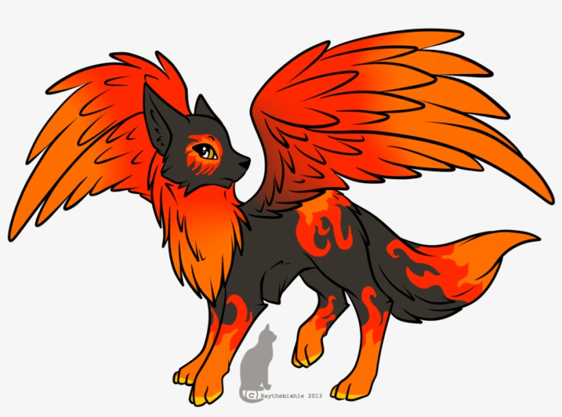 Wolf With Wings - Fire Wolf Drawing, transparent png #1792066