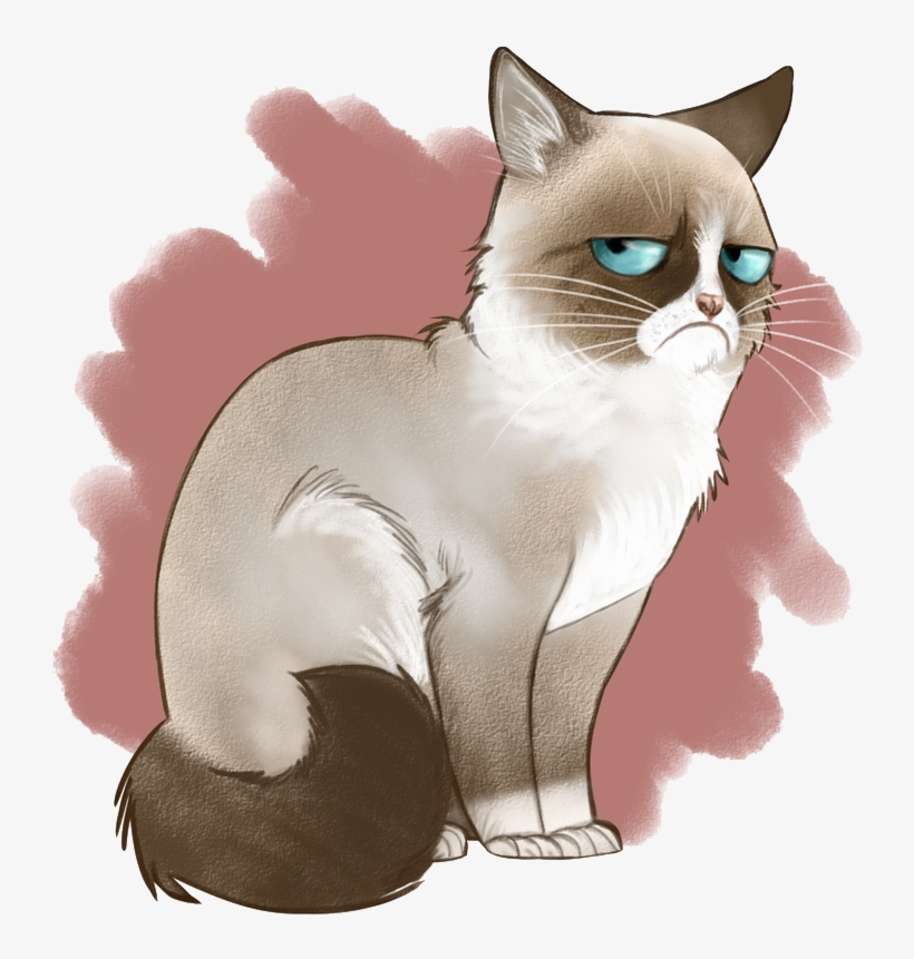 Angry Cat Png Image Background - Cross Stitch Grumpy Cat, transparent png #1792117