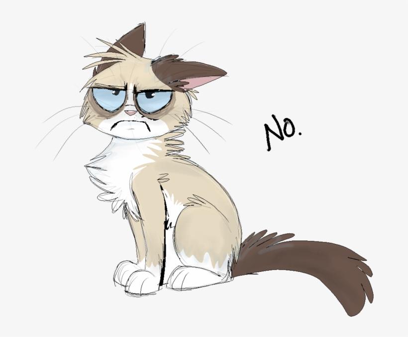 Grumpy Cat By On @ Grumpy Cat - Grumpy Cat Anime, transparent png #1792736