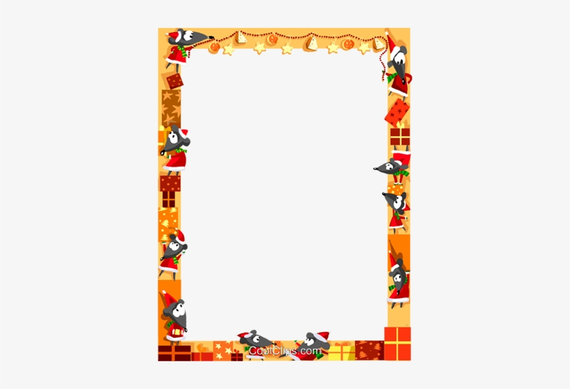 Christmas Themed Frame Royalty Free Vector Clip Art - Christmas Borders And Frames, transparent png #1794257