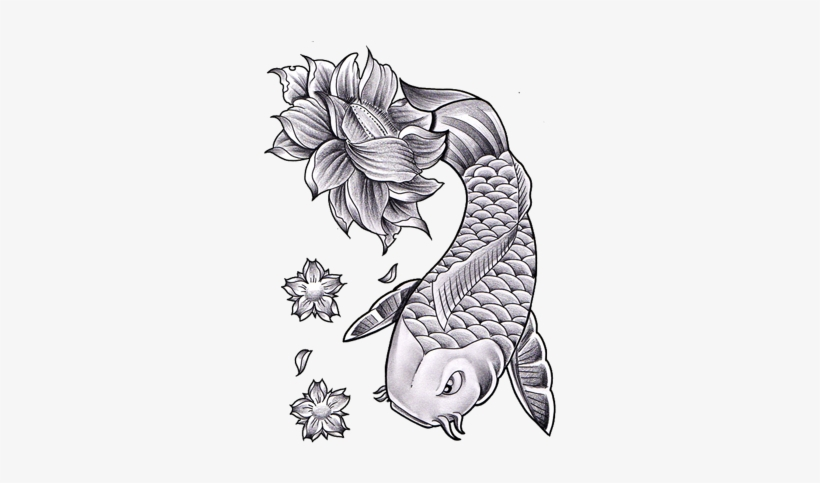 Lotus Flower Tattoo - Lotus Flower Tattoo Drawing, transparent png #1796359