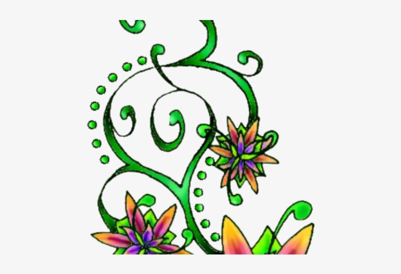 Flower Tattoo Png Transparent Images - Tattoo, transparent png #1796406
