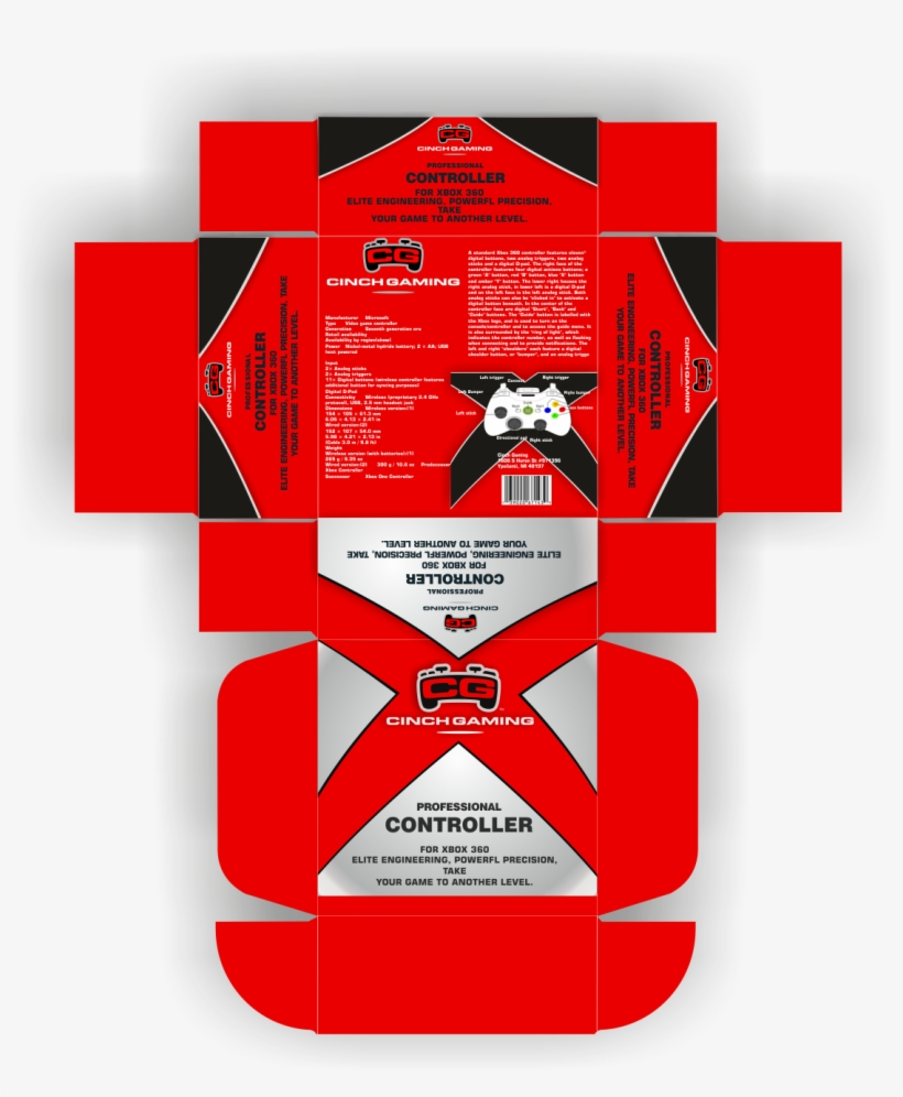 Modern, Professional, Product Packaging Design For - Cinch Gaming, transparent png #1796500
