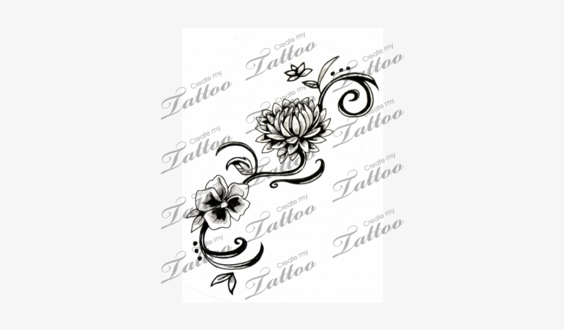 Flowers Graphic Library Library - Chrysanthemum November Birth Flower Tattoo, transparent png #1796576