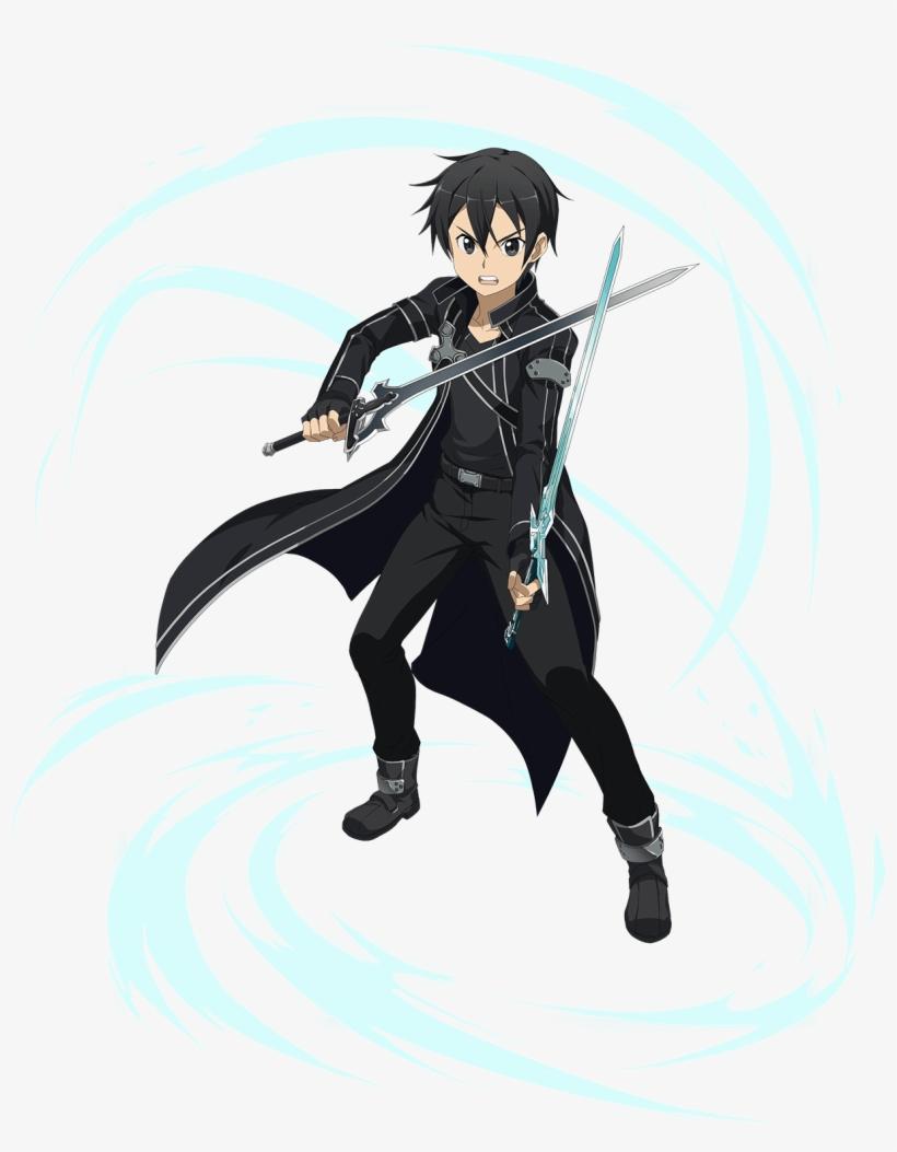 Md Black Swordman - Sword Art Online Memory Defrag Kirito, transparent png #1797700