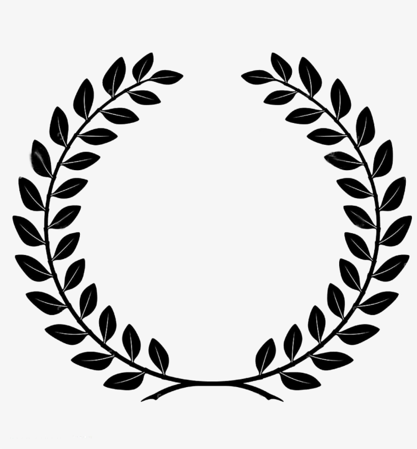 Bay Wreath Transprent Free Black And White Library - Corona De Laurel Vector, transparent png #1799959