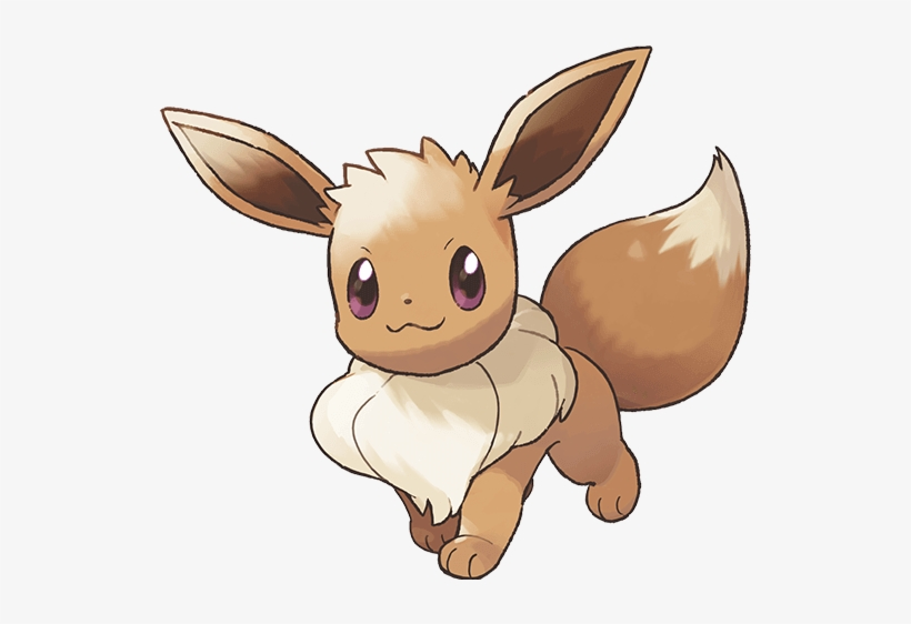 Eevee Partner - Pokemon Let's Go Pikachu Art, transparent png #180245