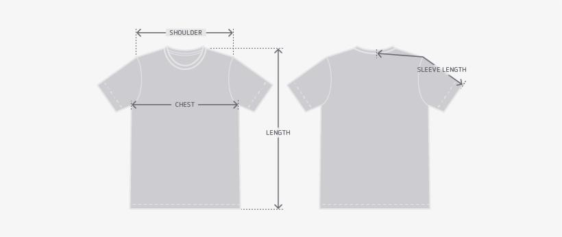1e75d43b ... On W Source · Garment Measurement Illustration Plain White T Shirt  Front And
