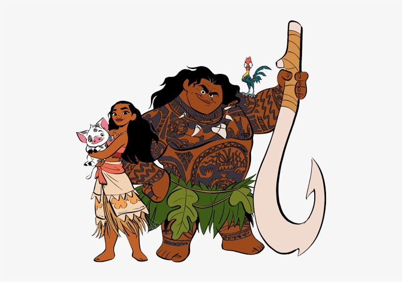 Disney Vector Moana Moana And Maui Clipart Free Transparent Png Download Pngkey