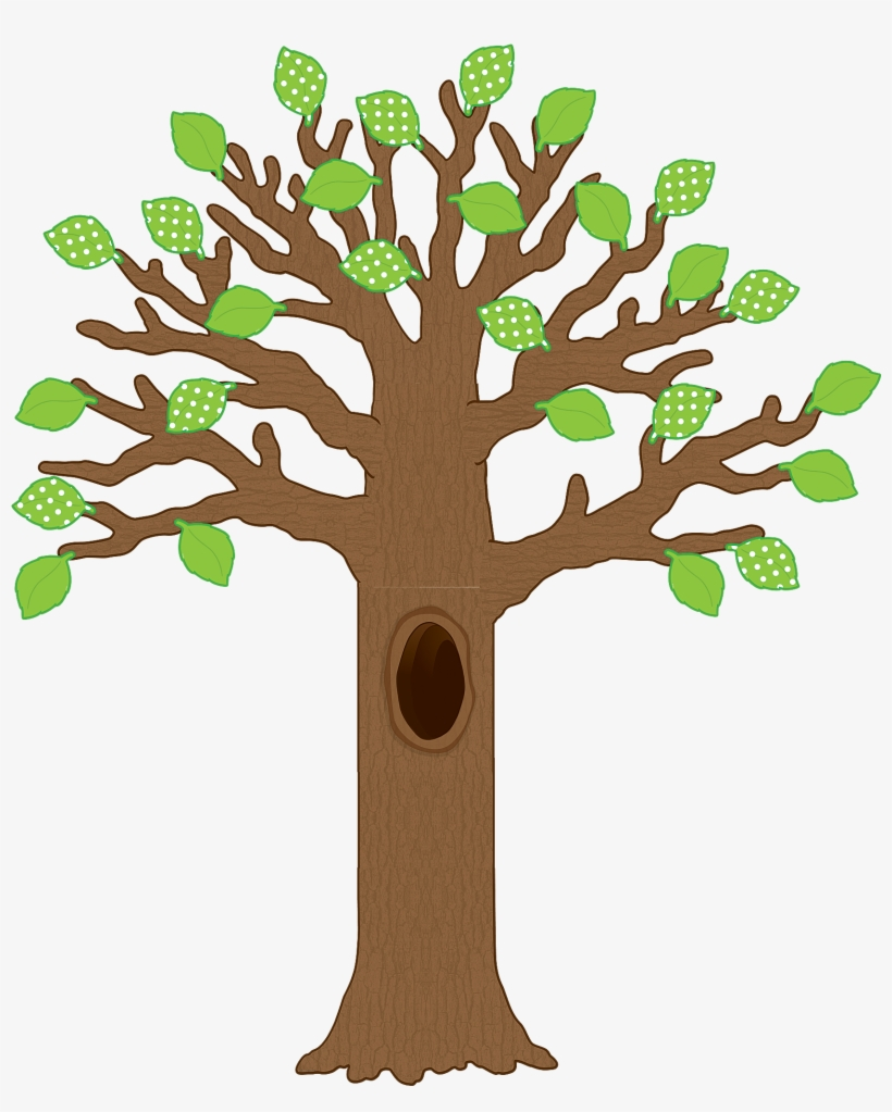 Big Tree With Polka Dot Leaves Bulletin Board Display - Giant Bulletin Board Tree, transparent png #182428