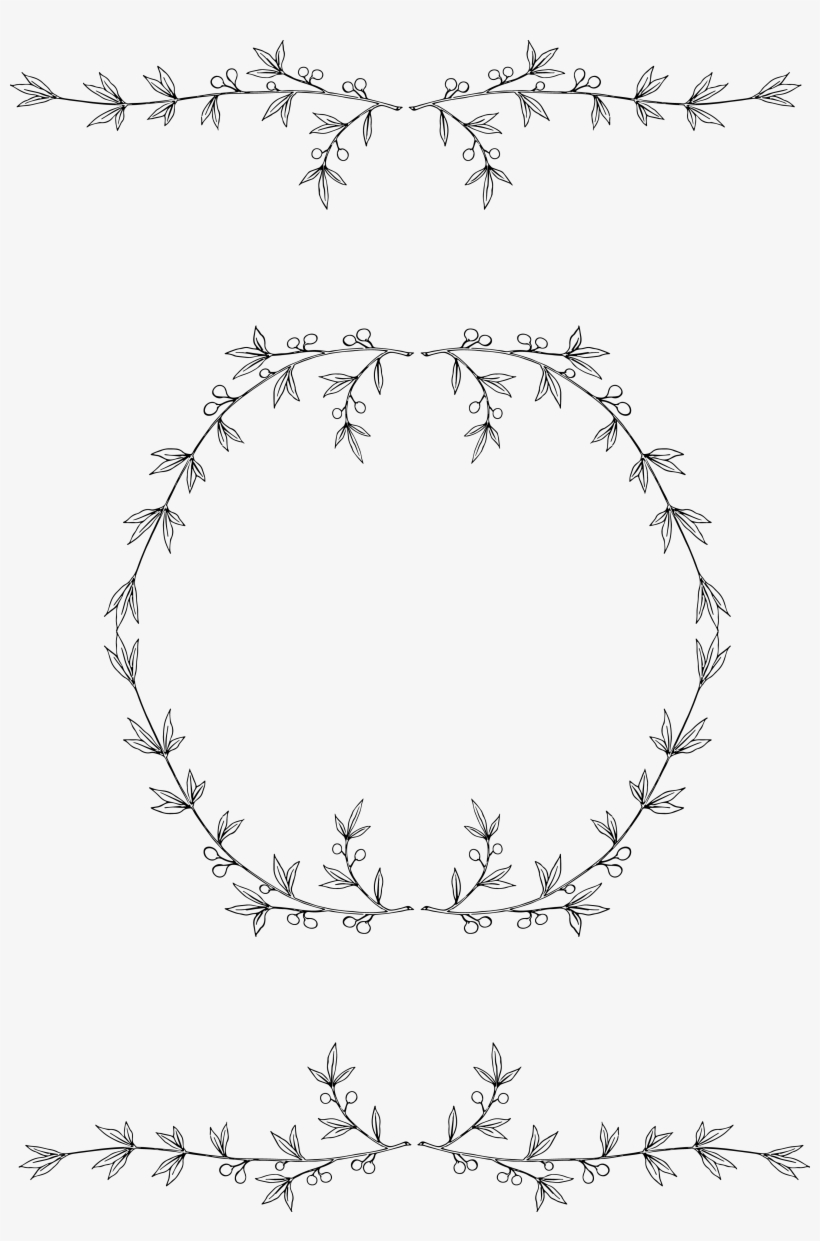 Free Olive Wreath Clip Art Stock Oh - Free Clip Art Wreath, transparent png #182724