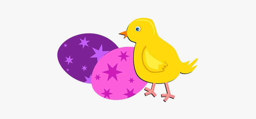 Chicken And Colore Easter Eggs - Transparent Background Easter Chick Png, transparent png #182744