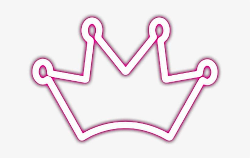 Corona Neon Fosforescent Stikers Picsart Crown Sticker Free