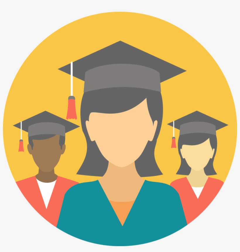 High School Graduation Png Clip Download - Graduates Icon, transparent png #183098