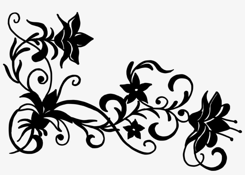 File Format Png File Size 362 92 Kb Free Flower Corner - Flowers Vector Black And White Png, transparent png #184360