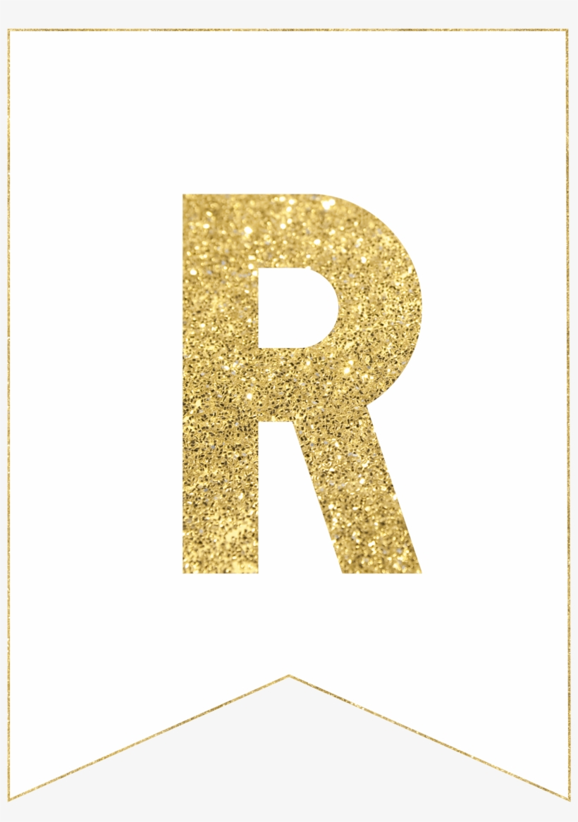 Gold Free Printable Banner Letters Use Our Gold Free - Gold Glitter Texture, transparent png #184860
