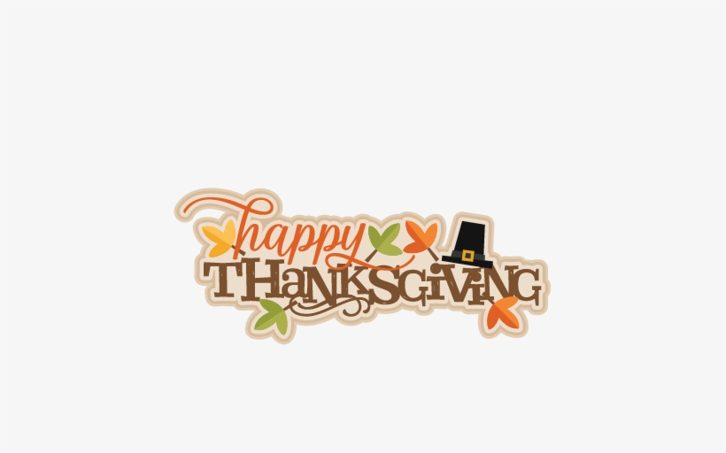 Happy Thanksgiving Logo Png Image Black And White Stock - Happy Thanksgiving Clipart Transparent, transparent png #184998
